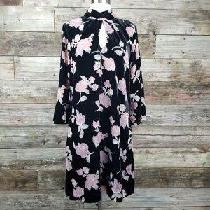 Nanette Velvet Black Long Sleeve Dress 14